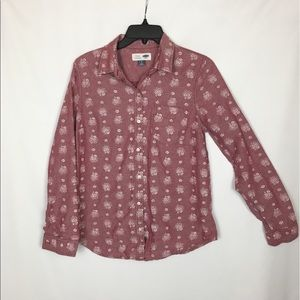 """Old Navy Classic Button Up """"Flower Power"""" Shirt"""